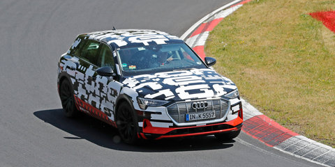 Audi e-tron snapped on the Nurburgring