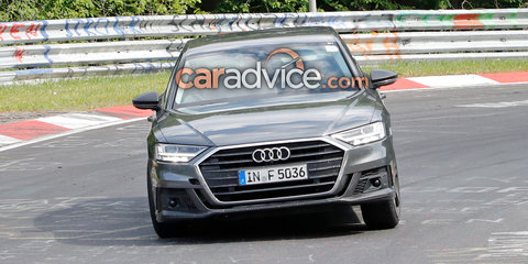 2019 Audi S8 spotted undisguised getting sideways(ish)
