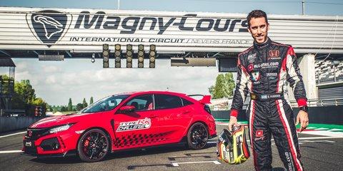 Honda Civic Type R record run starts in France - Video