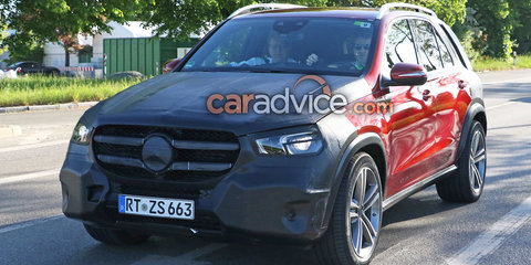 2019 Mercedes-Benz GLE spied with less camouflage