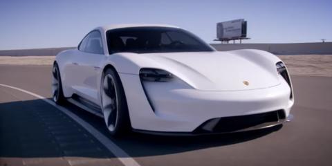Adam Levine drives the Porsche Mission E concept – Video
