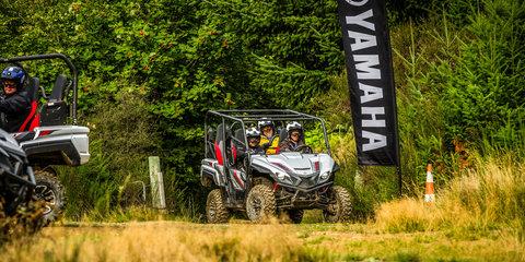 Slingin' mud in the Yamaha Wolverine X4