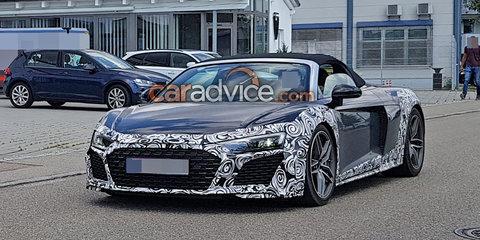2019 Audi R8 Spyder spied