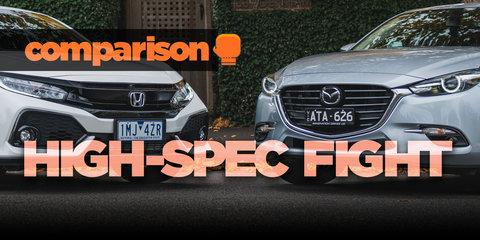 Honda Civic VTi-LX v Mazda 3 SP25 Astina Comparison