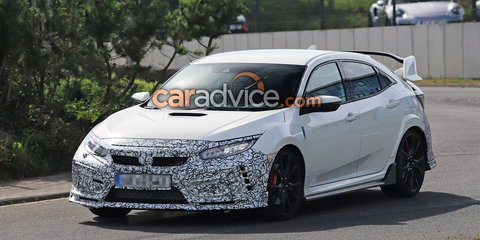 2019 Honda Civic Type R prototypes spied
