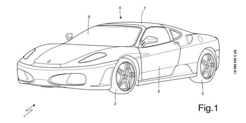 Ferrari files patent for new targa top design
