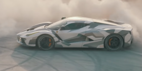 LaFerrari goes drifting around abandoned factory - video