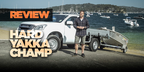 Hangin' tough in the Isuzu D-Max SX single-cab chassis