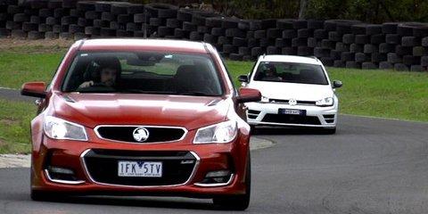 2016 Holden Commodore SS-V Redline v Volkswagen Golf R Review : Wagon track battle
