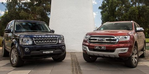 2016 Ford Everest Titanium v Land Rover Discovery 4 SDV6 comparison review