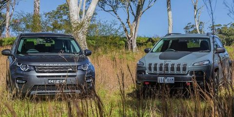 2015 Land Rover Discovery Sport v Jeep Cherokee Trailhawk Review : Off-road Comparison