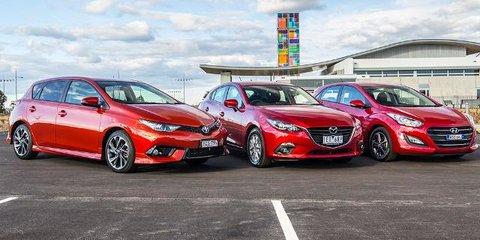 Small Car Comparison Review : Toyota Corolla, Mazda 3, Hyundai i30