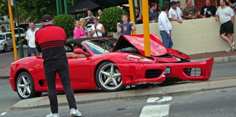 How to crash a Ferrari
