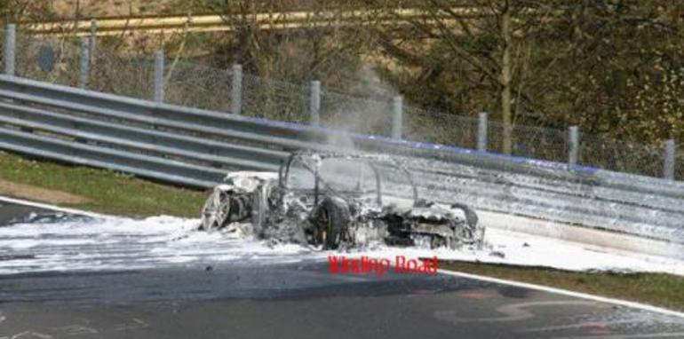 Audi R8 crash Nürburgring