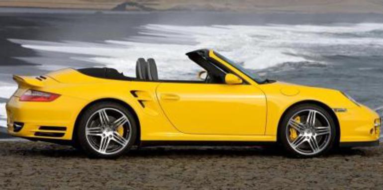 2008 Porsche 911 Turbo Cabriolet Side