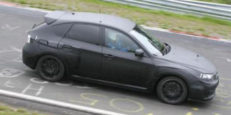 2008 Subaru Impreza WRX STi Spied at the Ring
