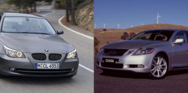 Lexus GS450h and BMW 535d