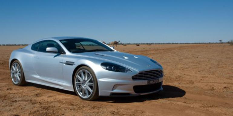 Aston Martin DBS with camels