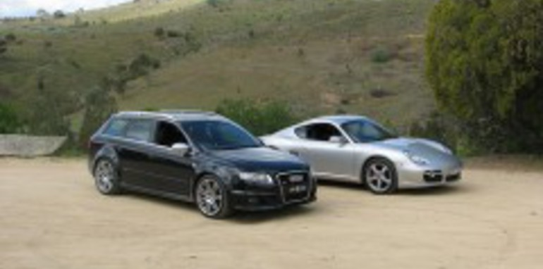 The Supercar Club Audi RS 4 and Porsche Cayman S