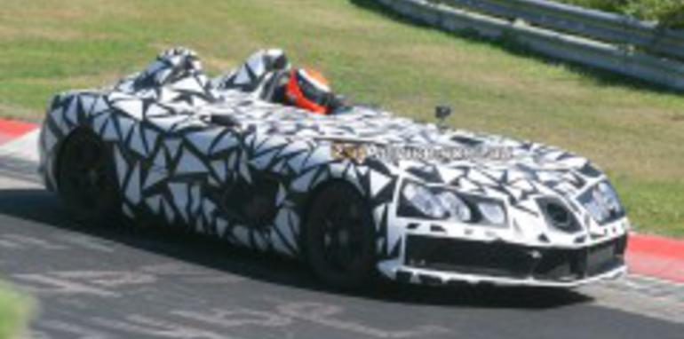 Mercedes McLaren SLR Speedster spied