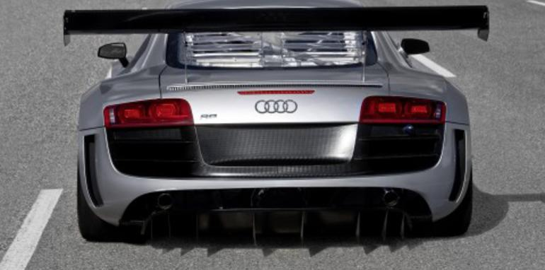 Audi R8 GT3 race version with rear-drive