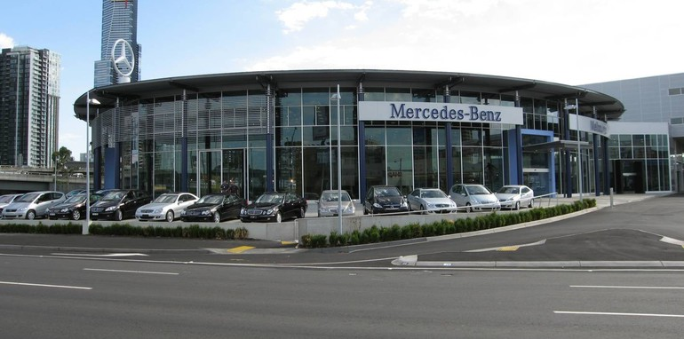 Mercedes benz celebrates 50 years in australia for Mercedes benz dealer northern blvd