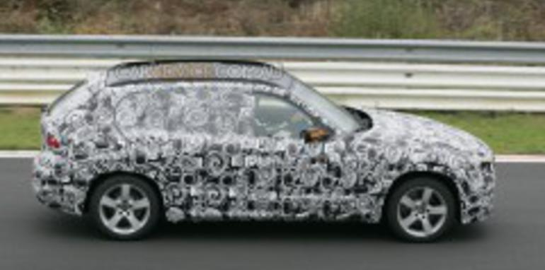 BMW X1 compact SUV spied