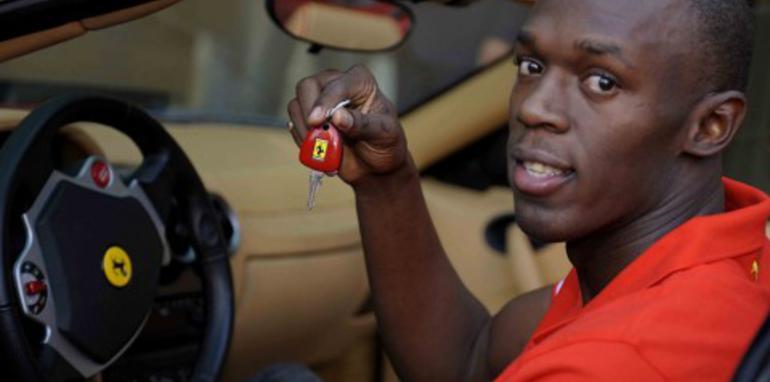 Usain Bolt dream drive in a Ferrari F430