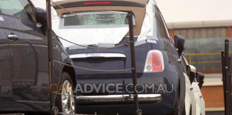 2009 Fiat 500 Cabriolet spied