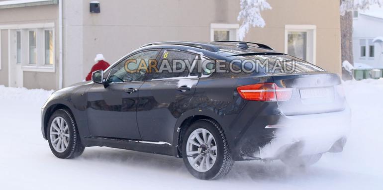 BMW X6 M spied winter testing