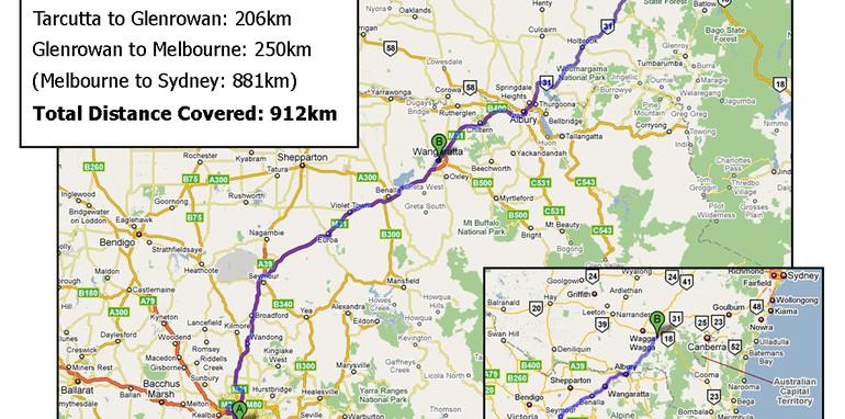 CarAdvice V8 Shootout route