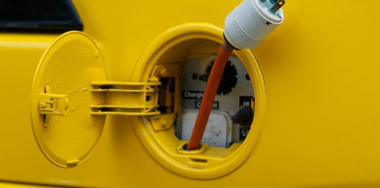 electric vehicle gas tank