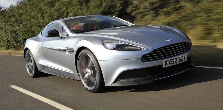 Aston Martin Vanquish on road