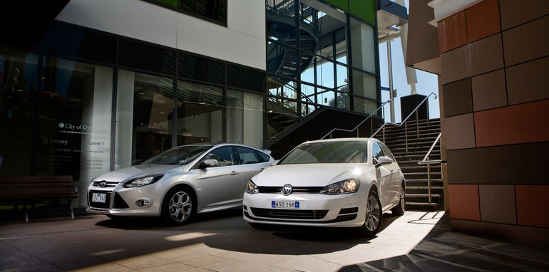Volkswagen Golf and Ford Focus