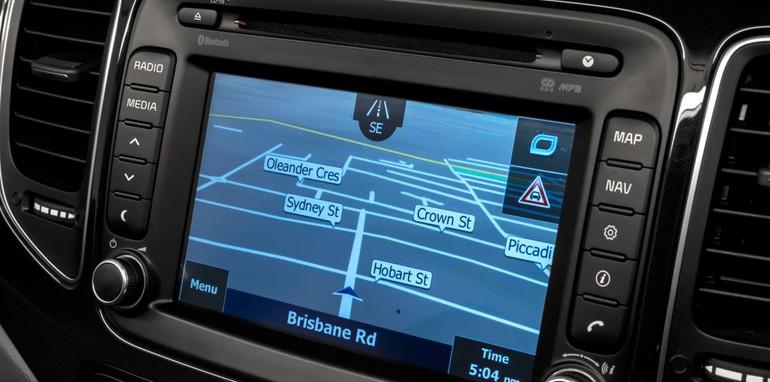 MY14 Kia Rondo Platinum satellite navigation multimedia system.
