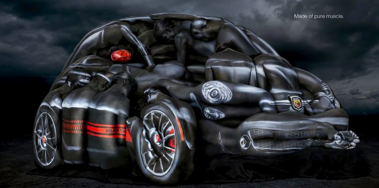 Fiat 500 Abarth Cabrio Body Paint Ad - 1