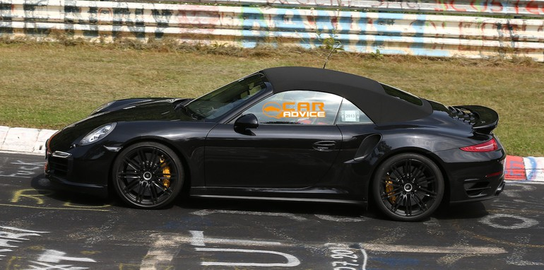 Porsche 911 Turbo Convertible Spied - 4