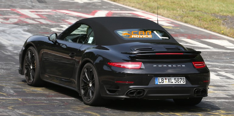Porsche 911 Turbo Convertible Spied - 7