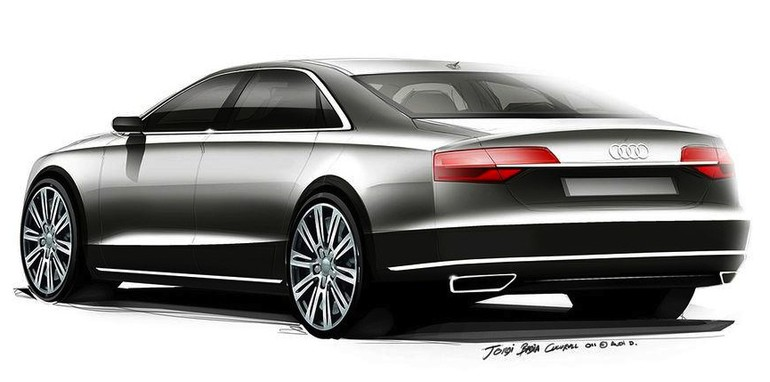 Audi A8 Facelift Teased - 2