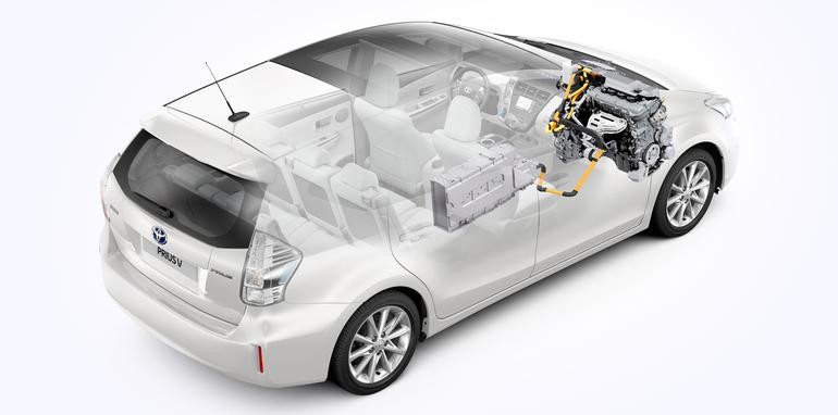 2012 Toyota Prius v Lithium-ion battery