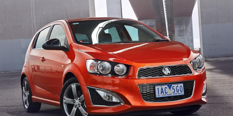 Holden Barina RS orange static