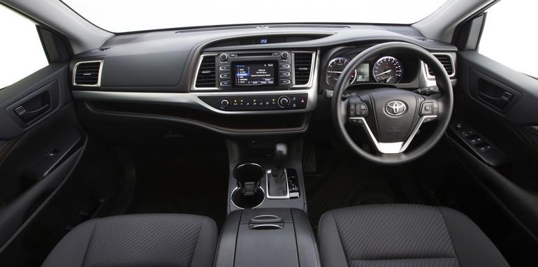 Hệ thống điều khiển của Toyota Kluger 2014