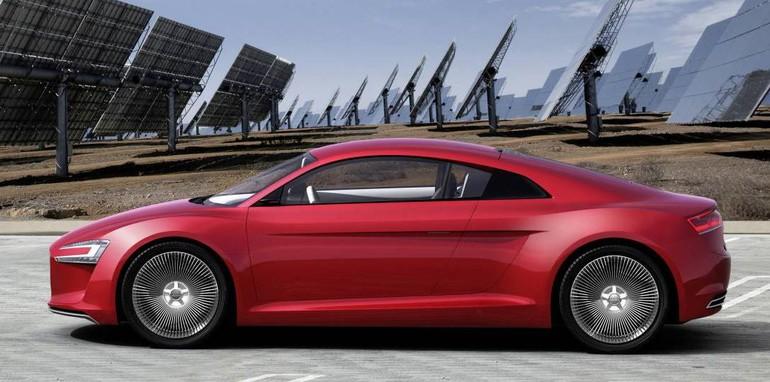 Audi R8 eTron profile
