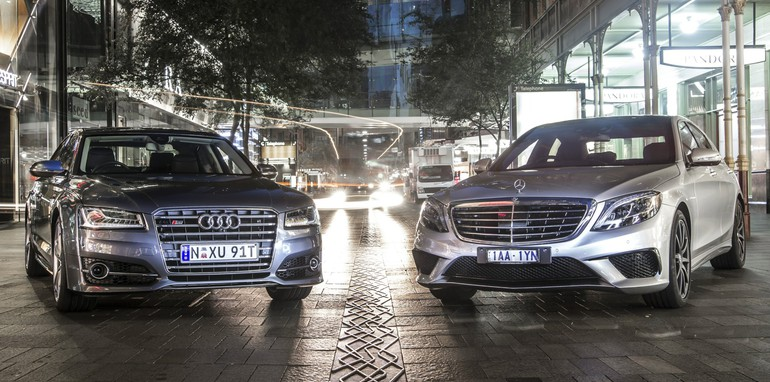 Audi S8 and Mercedes S63 AMG twin test _01