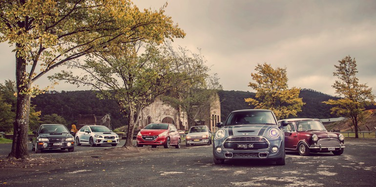 Old v New - Subaru WRX, Mini Cooper S, Peugeot GTi_01