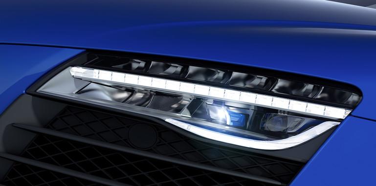 Audi R8 LMX laser high beam