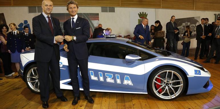 Lamborghini Huracan LP610-4 Polizia handover ceremony