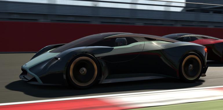 Aston Martin DP-100 on the track
