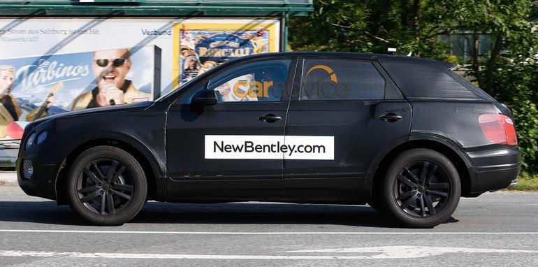 Bentley SUV spy photo side profile