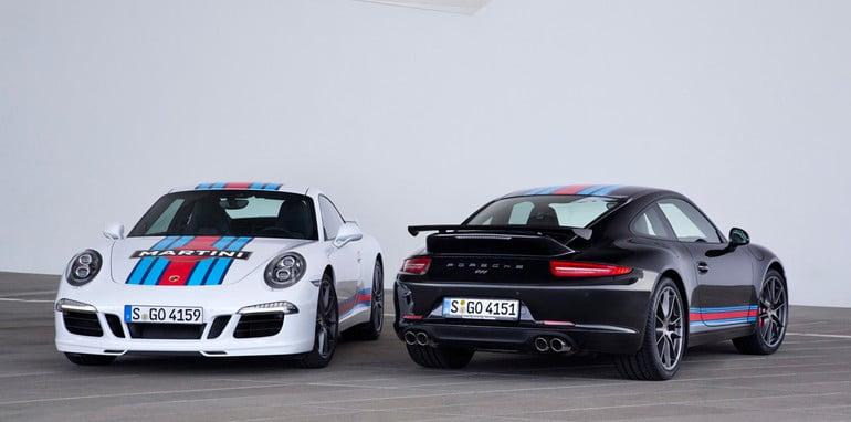 Porsche 911 Carrera S Martini Racing Edition black and white